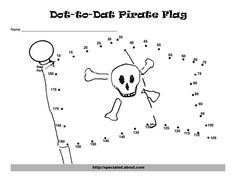 PIRATE MATH | Pirate Dot to Dots to Support Skip Counting
