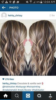 Brown blonde bayalage