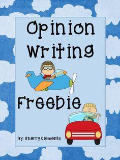 FREEBIE! Opinion Writing (plane or car) - kindergarten writing, first grade writing, or second grade writing