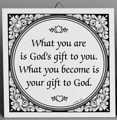Inspirational Wall Plaque: God's Gift