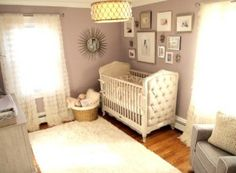 Project Nursery - Glam White and Lavender Nursery