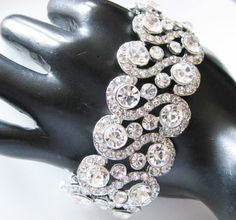 Rhinestone Bracelet with Sterling Plated  by weddingswithflair, $40.00