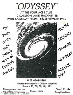 Odyssey 1989 @ The Four Aces, Hackney, London.