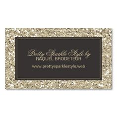 Gold Glitter Look Business Card. This is a fully customizable business card and available on several paper types for your needs. You can upload your own image or use the image as is. Just click this template to get started! Fashion Business Cards, Gold Business Card, Business Card Design, All That Glitters, Gold Glitter, Online Business, Retro Vintage, Personalized Items, Paper