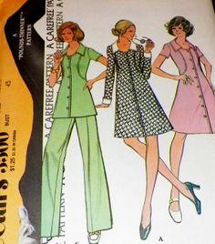 Uncut Sewing Pattern Vintage 1970s Dress by hookandneedlepattern, $10.00