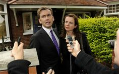 David Tennant and Emily Watson as Aiden and Freya Hoynes in the BBC Two drama The Politician's Husband