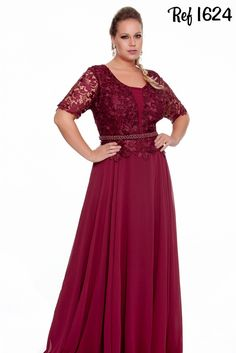 Vestidos Plus Size - Coleção 2016 - Aiza Collection Mais Vestidos Plus Size, Plus Size Gowns, Evening Dresses Plus Size, Plus Size Maxi Dresses, Plus Size Outfits, Maxi Dress Wedding, Bridesmaid Dresses, Prom Dresses, Formal Dresses