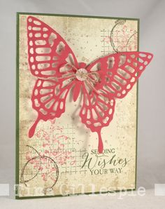 Scissors Paper Card: JAI #296: Just Add Nature - Timeless Textures and Butterfly Bsics - see the inside of the card in the post.