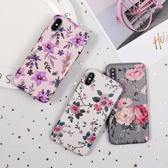 Phone Case For iPhone 11 or iPhone 11 Pro or iPhone Max Floral Soft Iphone 5s, Iphone 8 Plus, Phone Cases Samsung Galaxy, Iphone Cases, Cheap Phone Cases, Ship Art, Iphone Models, Flower Art, Art Flowers