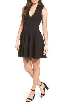 54d1f5778 Main Image - Soprano V-Neck Skater Dress Junior Dresses, Junior Outfits,  Outfits