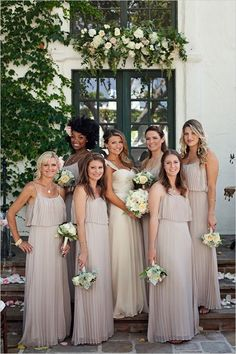 bridesmaid dresses with wedding flower