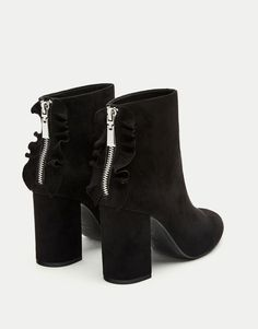 High heel ankle boots with ruffles - See all - Shoes - Woman - PULL&BEAR Spain