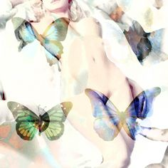 "Sensual and beautiful: ""The Butterfly"" by Boris Novak. Digital collages and water colour from the series Nephilim."