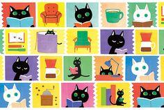本読み猫たち by つゆこ | CREATORS BANK http://creatorsbank.com/tsuyuko/works/299329