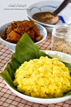 Nasi Kunyit is glutinous rice cooked in coconut milk and turmeric. This celebratory rice dish is usually served during weddings and special…