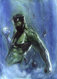 Green Lantern By Gabriele Dell'Otto #Comics #Illustration #Drawing