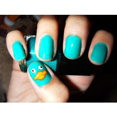 Perry the Platypus fingernails!  Brilliant!