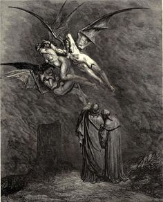 Gustave Dore. Inferno.My distant relative is Gustave Dore, an illustrator. His drawings are famous in many books including the Bible and The Raven by Edgar allan Poe ~Michele Dore-Cannon