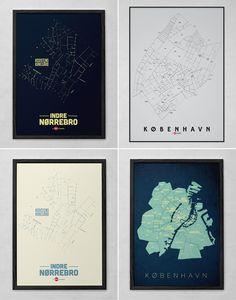 poster, plakat, klam, enklamide, københavn, typemap