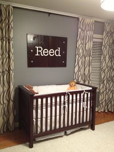 DIY Name board for nursery!  Check out details on how to make it or where to purchase it on Etsy!  :)