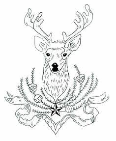 Vintage STAG at EVE Cross-stitch Embroidery Transfer