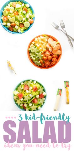 3 Fun Kid Salad Idea