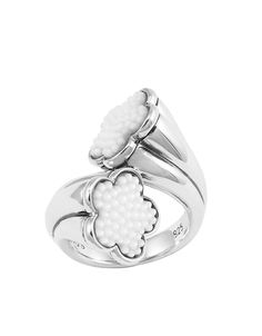 Love Me, Love Me Not White Mother of Pearl Ring