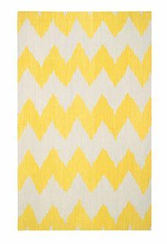 insignia rug in yellow chevron