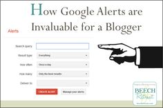 Google Alerts and #blogging from @BEECHRetreat