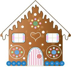 Christmas Gingerbread House Clip Art Free | Gingerbread, Graphic illustration and Gingerbread houses on Pinterest