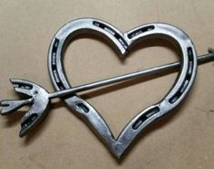 Horseshoe Hearts by TwistedMetalsForkArt on Etsy