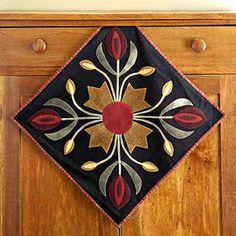 folk art quilt block... simple, yet elegant