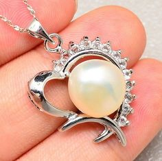 Pearl Heart Pendant - pinned by pin4etsy.com