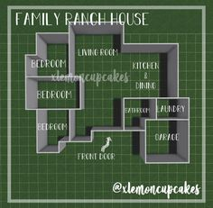 Two Story House Design, Sims 4 House Design, Tiny House Layout, House Layout Plans, Unique House Design, House Layouts, Simple Bedroom Design, Sims 4 House Plans, Family House Plans