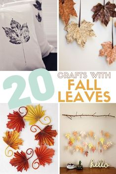 Fall is in the air and that means it is time for Fall Crafts! Here you will find 20 Craft Ideas that include beautiful Fall Leaves. #thecraftyblogstalker #fallleaves #autumn #fallcrafts #autumncrafts Easy Diy Crafts, Diy Craft Projects, Diy Crafts To Sell, Diy Crafts For Kids, Craft Ideas, Kids Diy, Decor Crafts, Diy Ideas, Thanksgiving Crafts For Kids