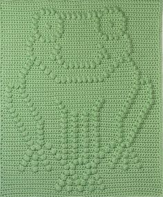 Frog Baby Blanket Pattern via Craftsy