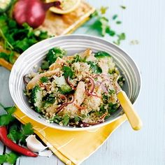 The perfect healthy supper recipe - chicken and broccoli cous cous, delicious!