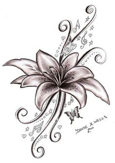 The tattoo I am getting as my tattoo, with my kids names and bdays Pretty Lily Flower Tattoo DesignsLatest 45 Lily Tattoo Designs for Best Classified Info About Tattoo Designs… Song Tattoos, Neue Tattoos, Body Art Tattoos, Sleeve Tattoos, Skull Tattoos, Tiger Lily Tattoos, Henna Tattoos, Temporary Tattoos, Tatoo 3d