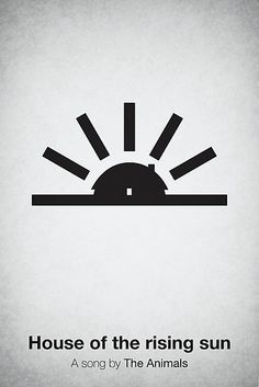 Simplicity music poster House of the Rising Sun by The Animals