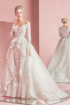 Wedding Bridal Dress 2016 // Zuhair Murad Printemps 2016 // Princess Lace Dress