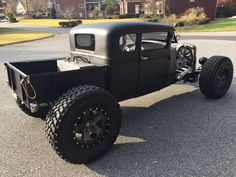 pictures of rat rod trucks Rat Rod Cars, Hot Rod Trucks, Cool Trucks, Big Trucks, Chevy Trucks, Cool Cars, Chevy Pickups, Custom Rat Rods, Custom Trucks