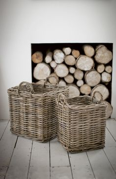 Square log baskets | Olive & the Fox