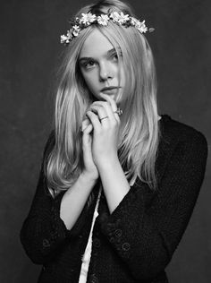 Elle Fanning by Chanel Little Black Jacket