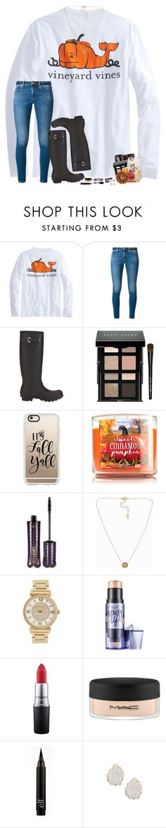 """pumpkin pickin', darlin' 🍂🍁"" by hopemarlee ❤ liked on Polyvore featuring MICHAEL Michael Kors, Hunter, Louis Vuitton, Bobbi Brown Cosmetics, Casetify, tarte, Pieces, Michael Kors, Benefit and MAC Cosmetics"