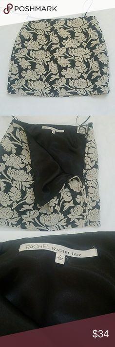 Rachel Roy Floral Skirt, embroidered Gorgeous, Fully Lined Rachel Roy embroidered  Floral Skirt, Side zipper runs the length of the skirt, EUC, Like new Rachel Roy Skirts