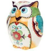 Home Accents Multi Clr BELLA OWL COOKIE JAR