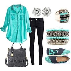 Fashionable evening and daily outfit
