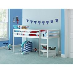 Buy Kaycie Mid Sleeper Single Bed Frame - White at Argos.co.uk, visit Argos.co.uk to shop online for Children's beds, Children's beds