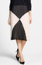 Halogen® 'Sunburst' Pleat Midi Skirt (Regular & Petite) available at Nordstrom.