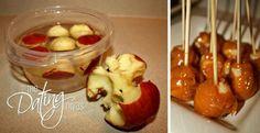 Yes! Bite sized caramel apples!